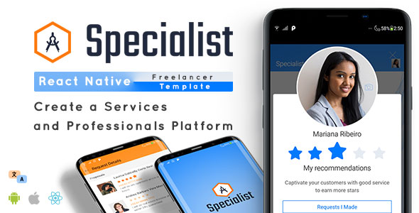 ✅ Specialist – React Native Freelancer App Template Nulled