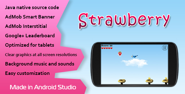 ✌Strawberry Game with AdMob and Leaderboard Nulled