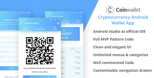 ✨CoinWallet – Android Cryptocurrency Wallet Template Nulled