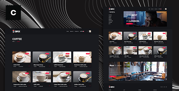 ✅ Cafex is a beautifully clean and contemporary Coffee Shop Theme script Nulled