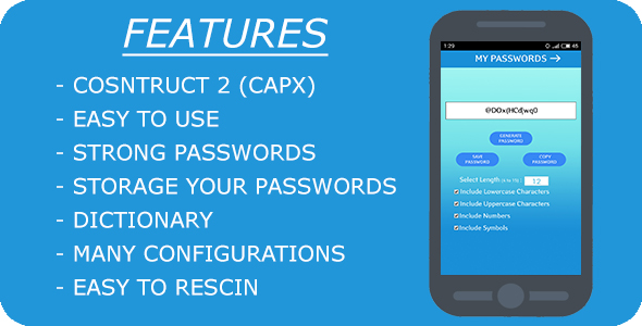 ✅ Password Generator – HTML 5 (Construct 2) + Mobile App + AdMob Nulled