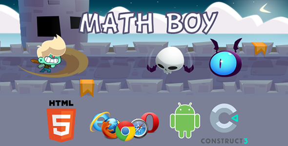 ✌Math Boy – HTML5  Educational Game Nulled