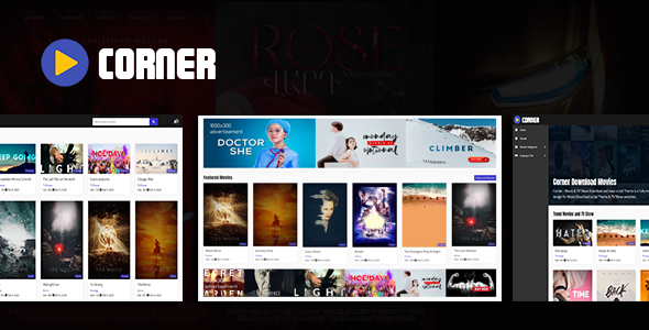 ✅ Corner – Movie & TV Show Download and view script Theme Nulled