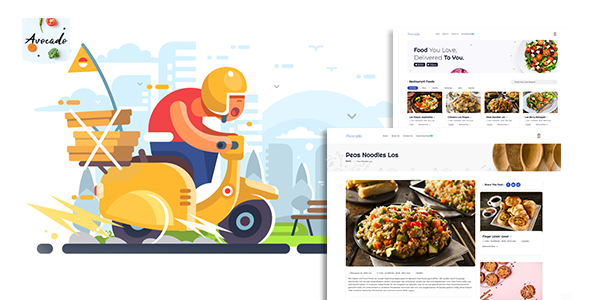 ✨Avocada – Food Delivery Restaurant script Template Nulled