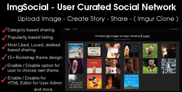 ✨Image Story Sharing Social Network – Imgur Clone Nulled