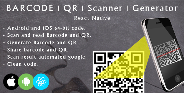 ✌React native barcode and QR scanner and generator Nulled