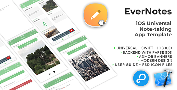 ✨EverNotes   iOS Universal Notetaking App Template (Swift) Nulled