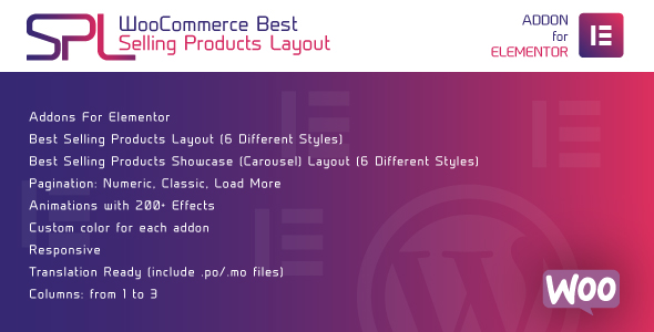 ✌WooCommerce Best Selling Products Layout for Elementor – WordPress Plugin Nulled