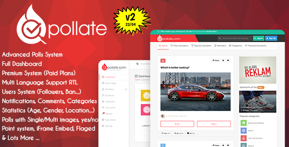 ✨Pollate – Premium Polls and Voting Platform Nulled