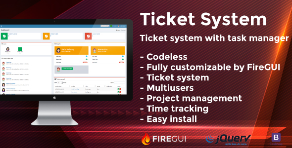 ✅ Tickets and Tasks Manager for FireGUI Builder Nulled