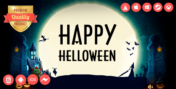 ✅ Happy Helloween – HTML5 Game + Mobile Version!!! (Construct 2 / Construct 3 / CAPX) Nulled