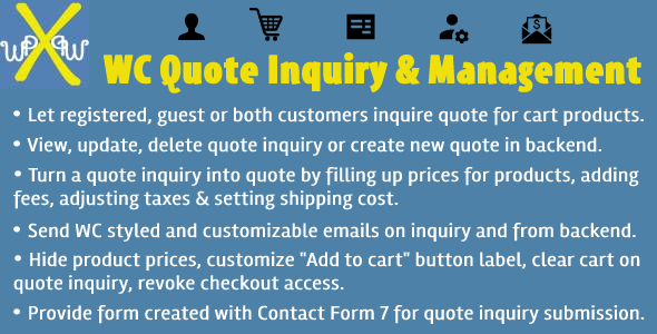 ✅ Woocommerce Quote Inquiry & Management Nulled