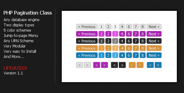 ✨PHP Pagination Class Nulled