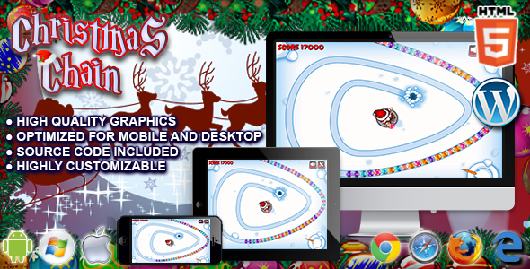 ✌Christmas Chain – HTML5 Game Nulled