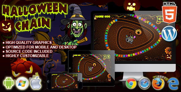 ✅ Halloween Chain – HTML5 Game Nulled