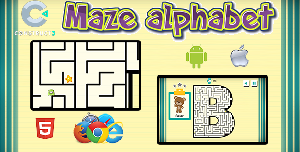 ✨Maze Alphabet – HTML5 Mobile Game Nulled
