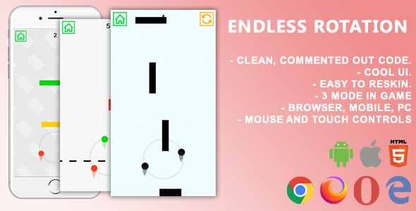 ✅ Endless Rotation. Mobile, Html5 Game. .c3p (Construct 3) Nulled