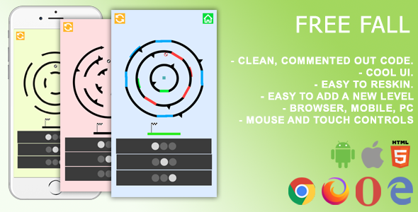 ✨Free Fall. Mobile, Html5 Game. .c3p (Construct 3) Nulled