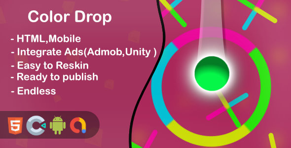 ✨Color Drop – Html5 Game and Mobile (Construct 3) Nulled
