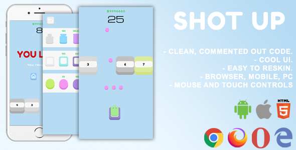 ✨Shot Up. Mobile, Html5 Game. .c3p (Construct 3) Nulled