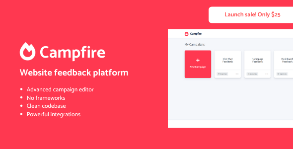 ✌Campfire – Advanced user feedback platform Nulled