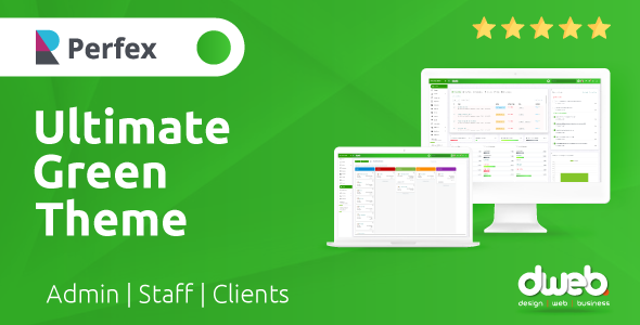 ✨Ultimate Green Theme – Perfex CRM Nulled