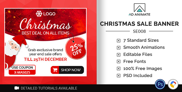 ✌Shopping & E-commerce | Christmas Sale Banner (SE008) Nulled