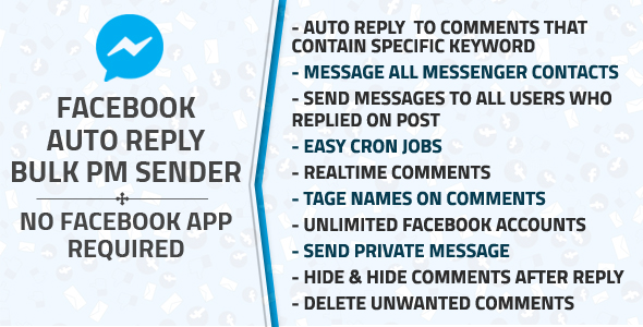 ✌Facebook Auto Reply & Bulk Private Message Sender Nulled