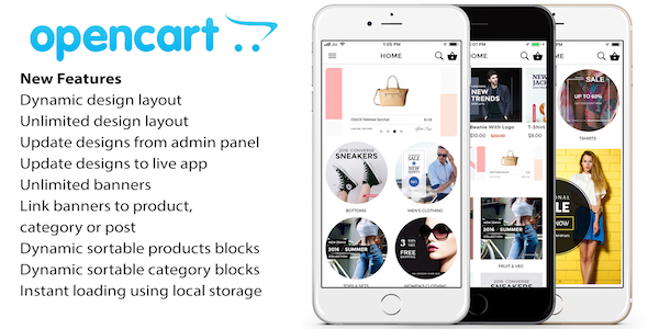 ✅ Opencart mobile app ionic 5 source code with opencart module for iOS and android Nulled