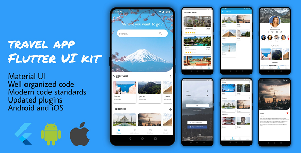 ✌Flutter Travel App for Tourism Nulled