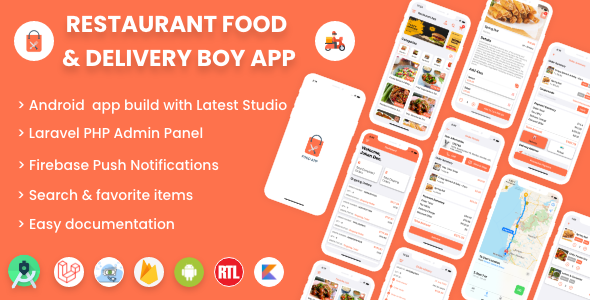 ✨Single restaurant Android food ordering app with Delivery Boy and Admin Panel Nulled