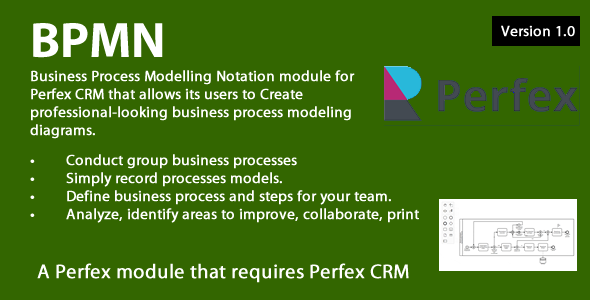 ✅ Business Process Modelling module for Perfex CRM Nulled