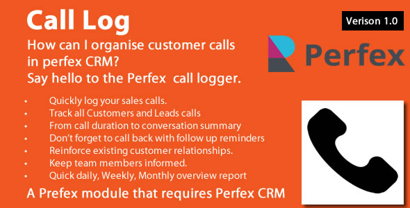 ✅ Call Log module for Perfex CRM Nulled