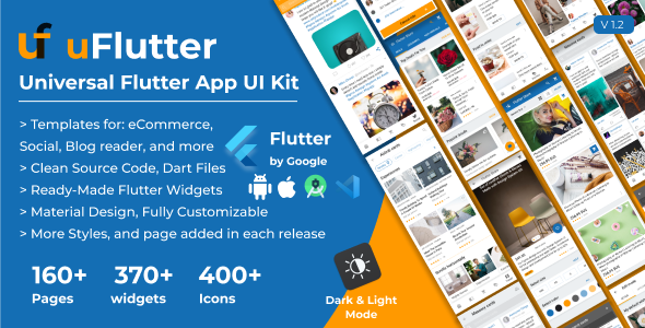 ✅ uFlutter – Universal Flutter App UI Kit – Biggest Kit Widgets & Templates Multipurpose Flutter Apps Nulled