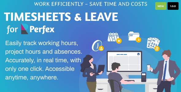 ✅ Timesheets and Leave Management for Perfex CRM Nulled