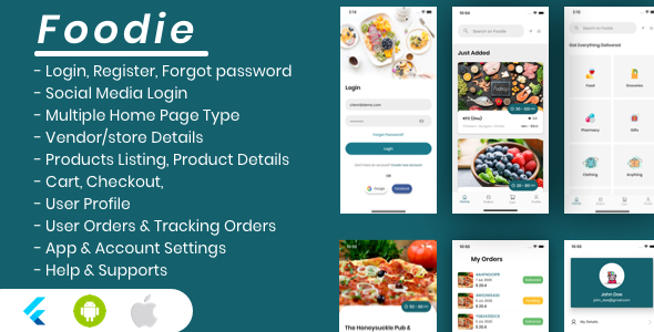 ✅ Foodie – Flutter Grocery, Food, Pharmacy, Store Delivery Mobile App Nulled