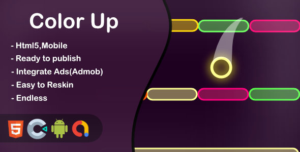 ✌Color Up (Construct 3 + HTML + Mobile) Nulled