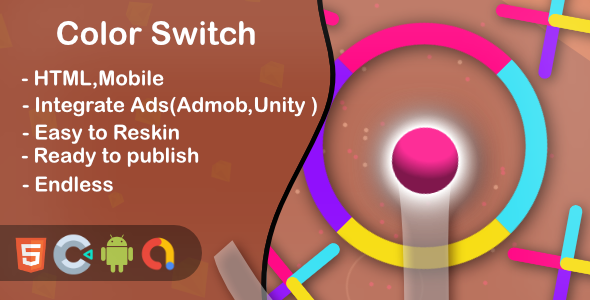 ✨Color Jump Switch – Html5 Game and Mobile (Construct 3) Nulled