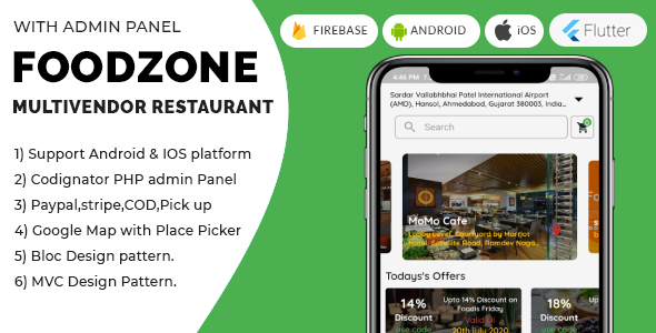 ✨FoodZone Multivendor Mobile Application in Flutter with PHP Admin Panel + Multi Language Supports Nulled