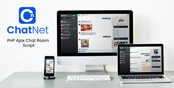 ✅ ChatNet – PHP Ajax Chat Room & Private Chat Script Nulled