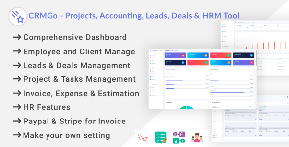 ✅ CRMGo – Projects, Accounting, Leads, Deals & HRM Tool Nulled