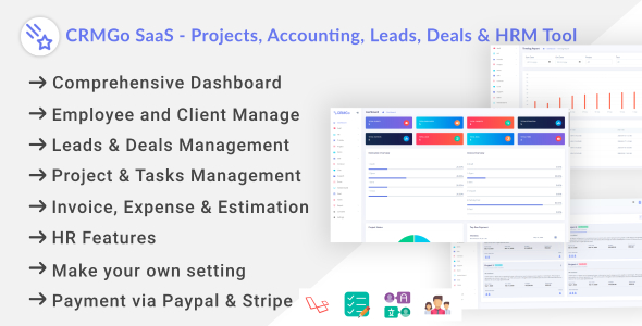 ✌CRMGo SaaS – Projects, Accounting, Leads, Deals & HRM Tool Nulled