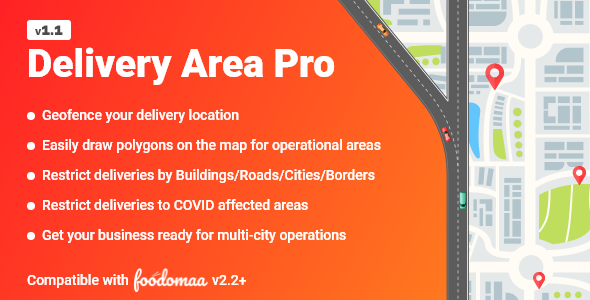 ✌Delivery Area Pro Module for Foodomaa Nulled