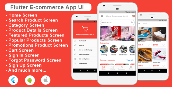 ✌Flutter Ecommerce App UI Template for Android and iOs Nulled