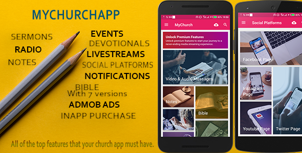 ✌My Church App – connect your church to a mobile world. Nulled