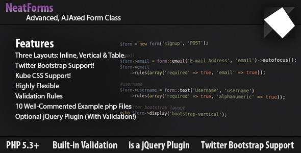 ✨Form Class – AJAX, Validation, jQuery & Bootstrap Nulled