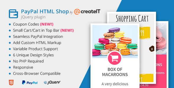 ✨jQuery Paypal HTML Shop Nulled