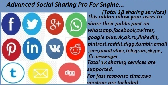 ✨Advanced Social Sharing Pro For Sngine Nulled