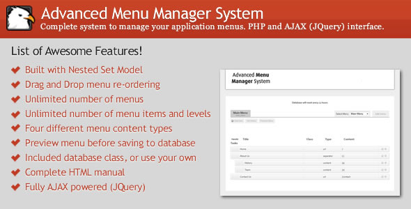 ✌Advanced Menu Manager System Nulled