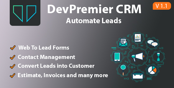 ✅ DevPremier CRM – Convert Leads into Customers Nulled